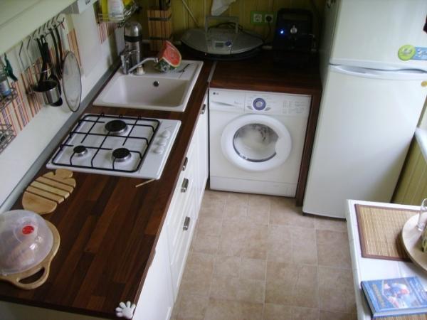 Маленькая кухня дизайн: фото 5 кв м с холодильником и стиральной машиной