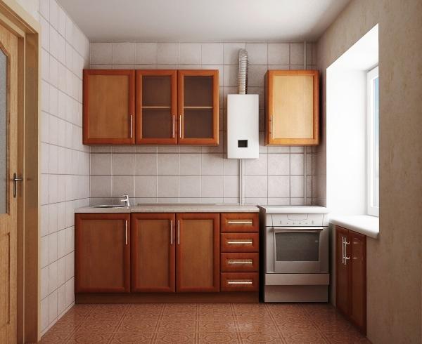 ремонт кухни с газовой колонкой в хрущевке фото