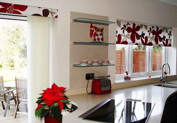 Рулонные жалюзи на кухню фото