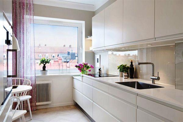 Шторы для кухни фото дизайн 2019 года новинки на большое окно