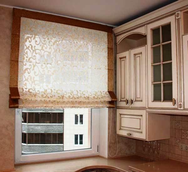шторы на кухню фото 2019 современные в маленькую кухню фото 6