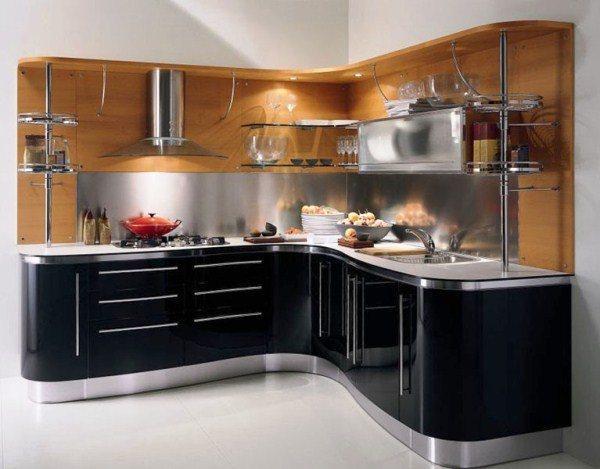 угловая кухня дизайн интерьер фото 12 кв метров