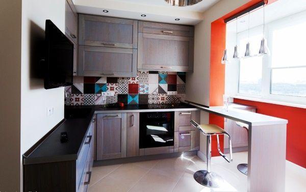 Угловые кухни 9 кв. м фото