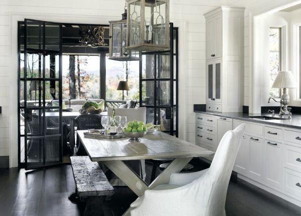 Дизайн кухни столовой в частном доме фото