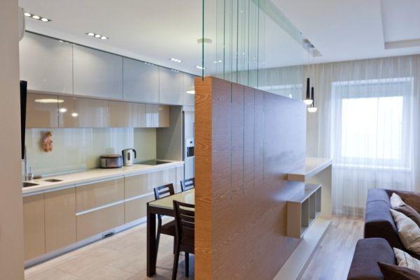 Дизайн кухни студии в частном доме фото