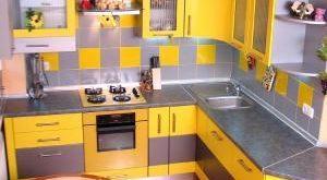 Кухня 9 кв. м фото интерьера в панельном доме