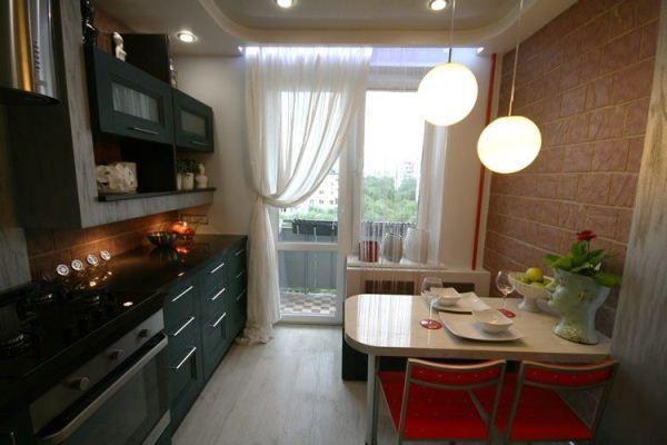 интерьер кухни 9 кв.м фото в панельном доме фото