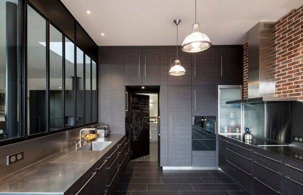 Интерьер кухни 9 кв.м фото в панельном доме в современном стиле