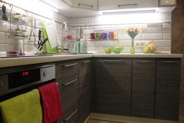 Кухня 9 кв. м в панельном доме фото 13