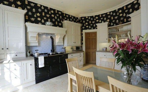 Отделка стен кухни в частном доме фото
