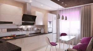 дизайн кухни 10 кв м фото с диваном