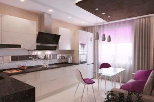 дизайн кухни 10 кв. м фото с диваном