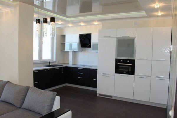 дизайн кухни в стиле хайтек фото
