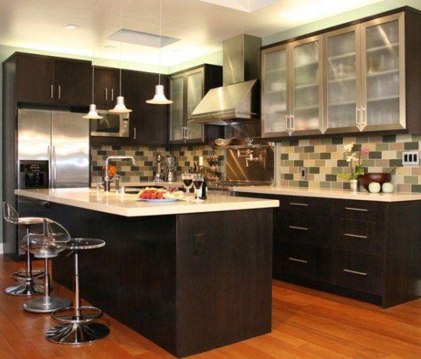 угловая кухня с барной стойкой фото 4
