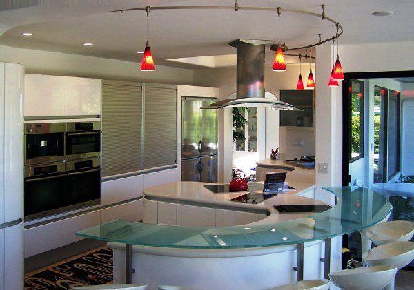 угловая кухня с барной стойкой фото 6