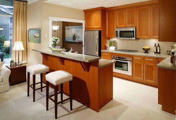 угловая кухня с барной стойкой фото