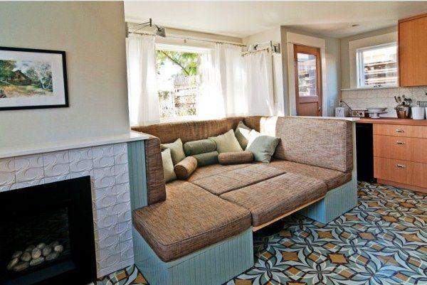 дизайн кухни 12 кв м с диваном фото 4