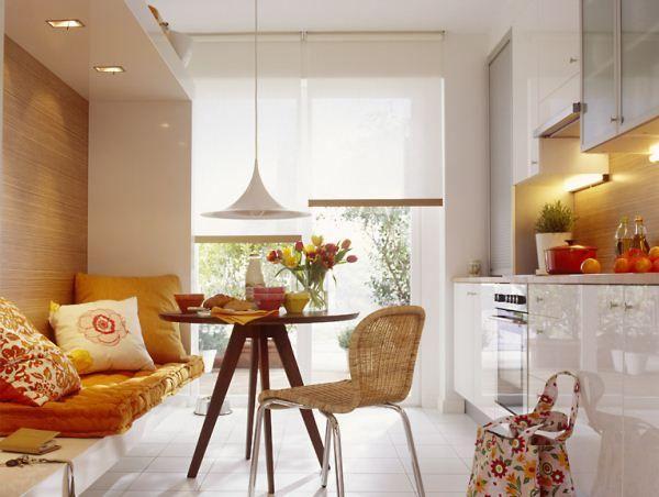 Кухня 12 метров дизайн с диваном фото