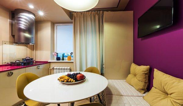 дизайн кухни 12 кв м с диваном фото 9