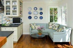 дизайн кухни 12 кв м с диваном фото
