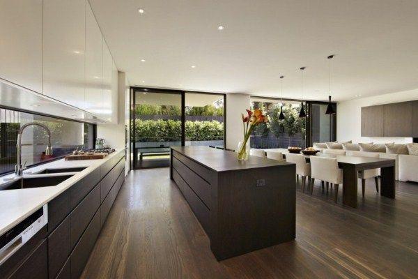 дизайн кухни столовой гостиной в частном доме фото 11