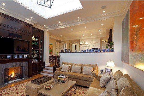 дизайн кухни столовой гостиной в частном доме фото 12