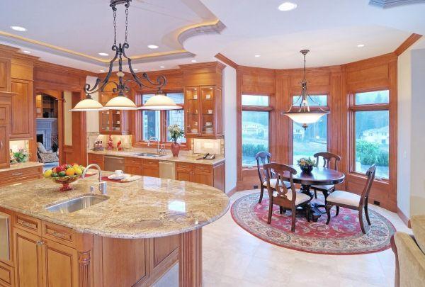 дизайн кухни столовой гостиной в частном доме фото 17