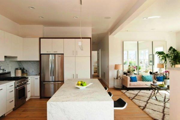Дизайн столовой гостиной в частном доме фото