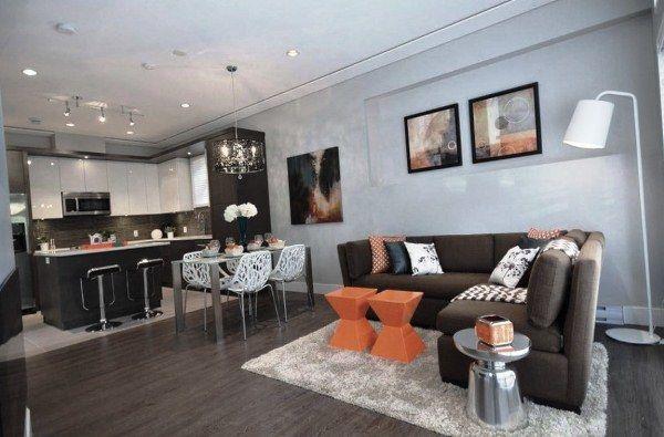 дизайн кухни столовой гостиной в частном доме фото 7