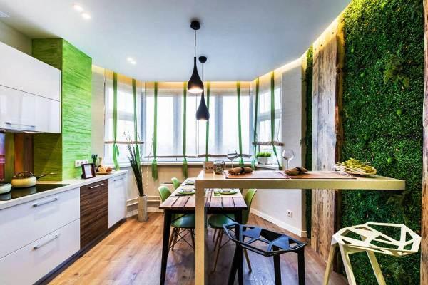 Интерьер кухни 14 кв. м фото