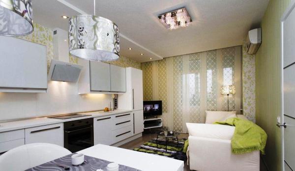 Кухня гостиная 14 кв. м дизайн фото