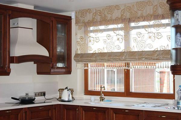римские шторы на кухню фото 10