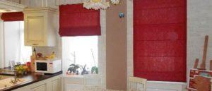 римские шторы на кухню фото 14