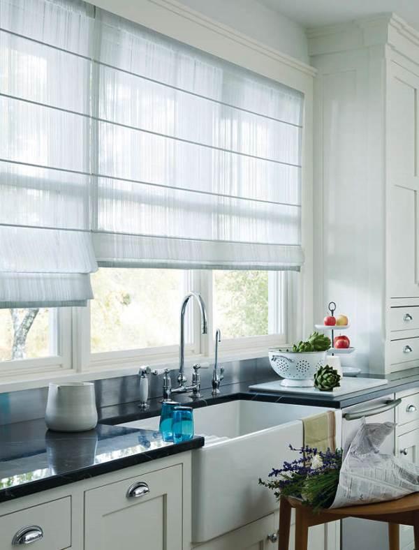 римские шторы на кухню фото 17
