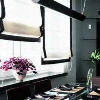 римские шторы на кухню фото 20