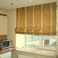 римские шторы на кухню фото 37