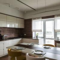 римские шторы на кухню фото 54