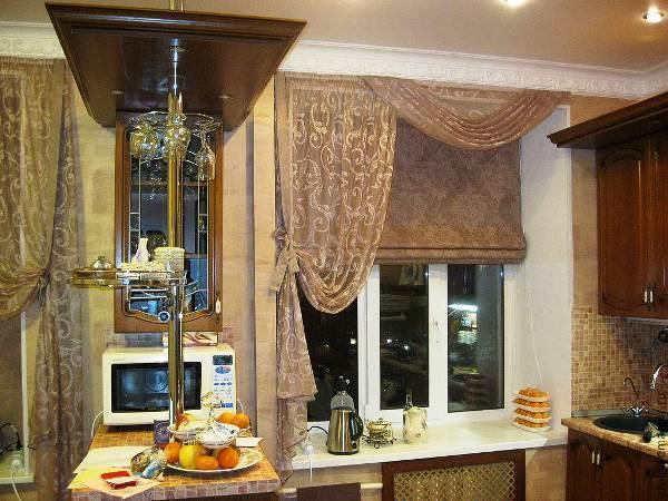 римские шторы на кухню фото 6