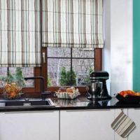 римские шторы на кухню фото 62