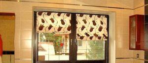римские шторы на кухню фото 63