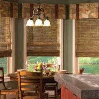 римские шторы на кухню фото 65