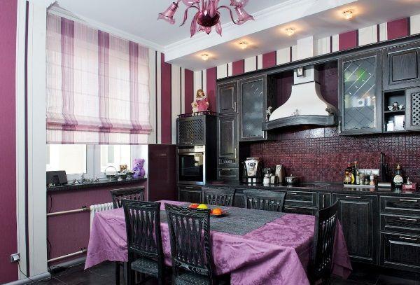 дизайн штор на кухню фото 15
