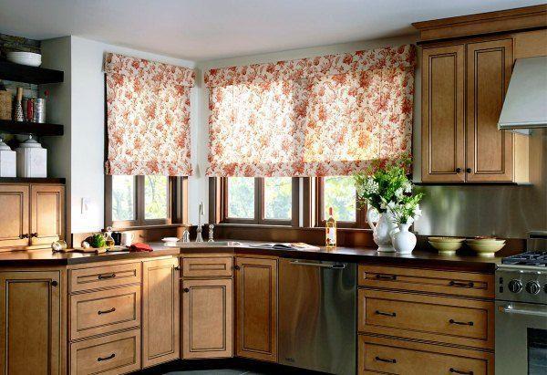 дизайн штор на кухню фото 2