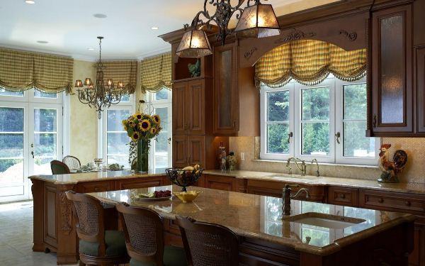 Дизайн штор на кухню фото 5