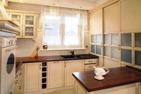 Короткие занавески для кухни фото