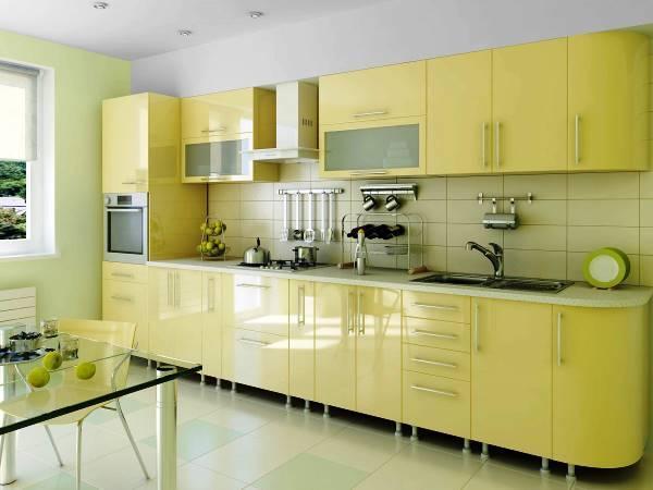 комбинированные кухни фото современные глянцевые прямые