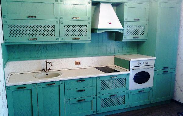 прямая кухня 9 кв м дизайн фото
