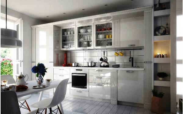 прямая кухня фото